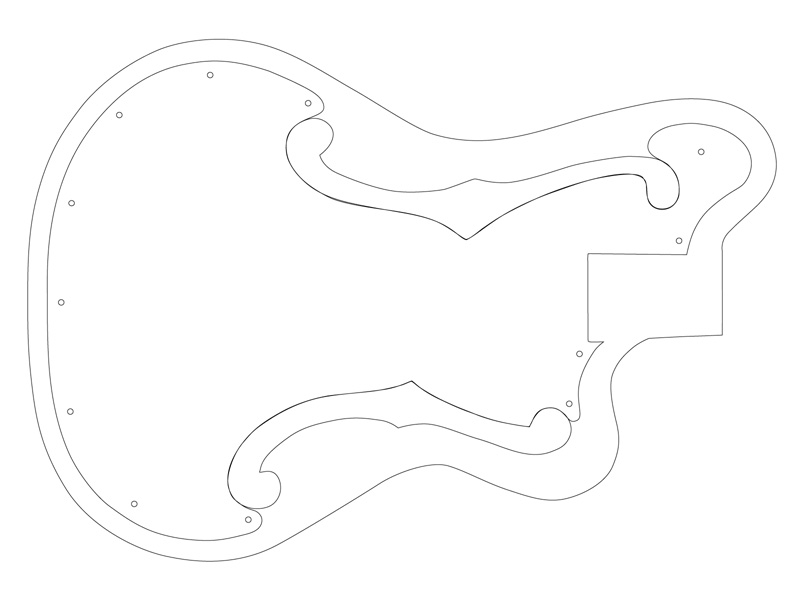 image regarding Printable Guitar Templates known as Guitar Determine Template Clipart Panda - Cost-free Clipart