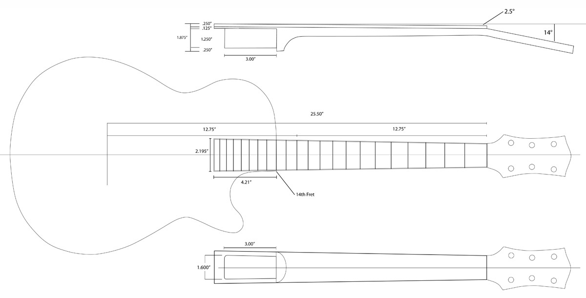 les paul top carving template - guitarnut gretsch jet inspired build page 3